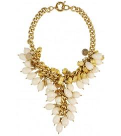 Halskette 'Golden Nuggets' ivory