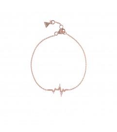 Armband 'Heartbeat' mit Zirkonia Silber rosé vergoldet