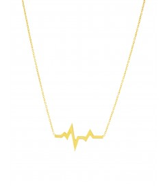 Halskette 'Heartbeat' Silber vergoldet