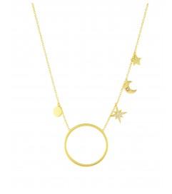Halskette 'Midnight' Silber vergoldet