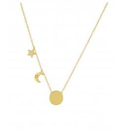 Halskette 'Moon and Star' Silber vergoldet