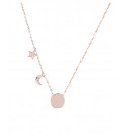 Halskette 'Moon and Star' Silber rosé vergoldet