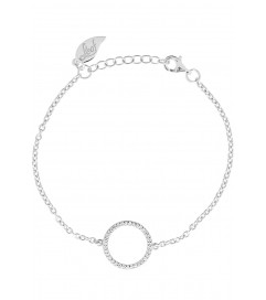 Leaf Armband Circle of Life silber rhodiniert