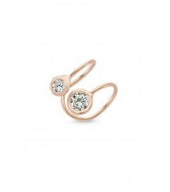 Amorium Mini Ear Cuff '2 Stones' rosé vergoldet