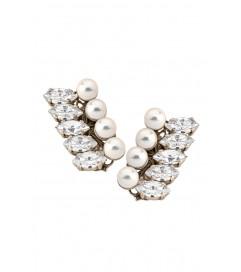 Anton Heunis Ohrstecker 'Icy Pearls' rhodiniert