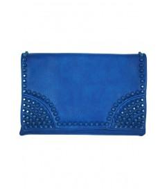 Clutch Tasche 'Studs' blau