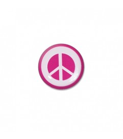 Brillen Aufkleber 'Inner Circle Peace' pink