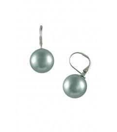 Ohrhänger mit Perle anthrazit
