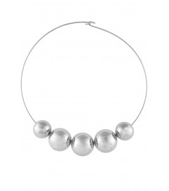 Kenneth Jay Lane Halskette 'Big Pearls' silber
