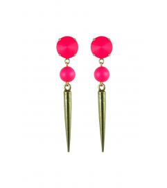 Ohrstecker 'Spikes' neon-pink