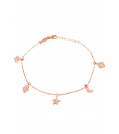 Kurshuni Armband 'Amulett' rosé vergoldet