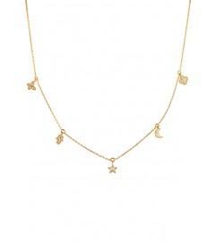 Kurshuni Halskette 'Amulett' vergoldet