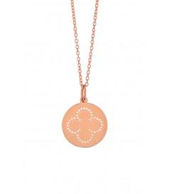 Leaf Halskette 'Cloverleaf' rosé vergoldet