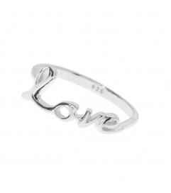 Leaf Ring 'LOVE' silber