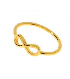 Leaf Ring 'Infinity' vergoldet