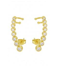 Ohrring 'Diamonds' vergoldet