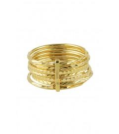 Ring '7 Days Rings' vergoldet