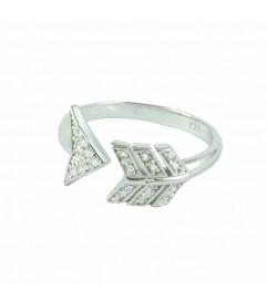 Ring 'Pfeil' mit Zirkonia Silber