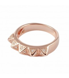Ring 'Chic Spikes' rosé vergoldet