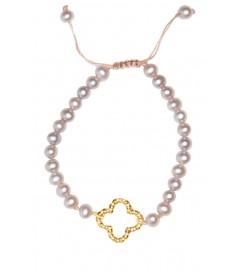 Litalu Armband mit Perlen 'Mia' vergoldet
