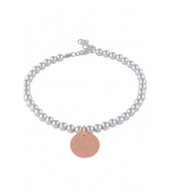 Perlenarmband mit LOVE Anhänger Silber