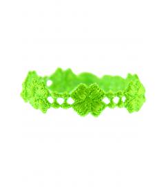 Armband 'Kleeblatt' neon grün