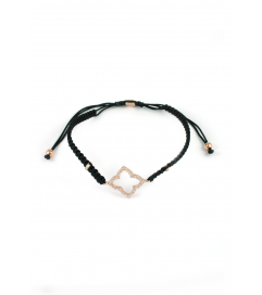 Makramee Armband 'Oriental Flower' schwarz