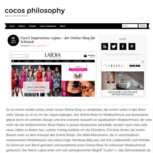lajoia der onlineshop für Schmuck & Accessoires